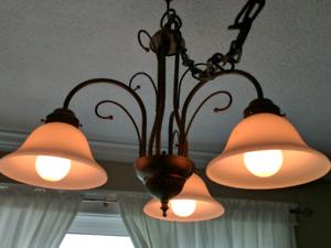 Three light hanging lamp chandelier