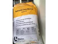 limetech hydraulic lime mortar light grey