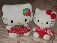 Hello Kitty plush x2 large with tags.