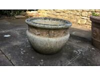 Garden/Patio Round Stone Pot