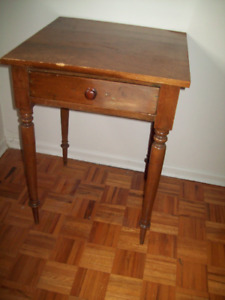 LARGE ANTIQUE WATERLOO COUNTY LAMP TABLE MENNONITE