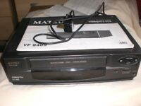 Matsui video cassette recorder- VP 9405 with remote control