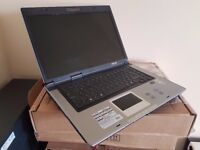 Asus X50N laptop, AMD Turion X2 1.6Ghz Dual Core, Nvidia Geforce 7000, Windows 7 Home, Office