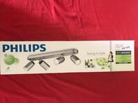 Philips Ecomoods 556544816 Spotlight Bar Energy-Saving 4 Bulbs