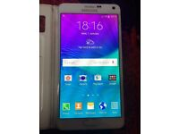 Samsung galaxy Note 4 White unlocked 32 gig very good condition low price quick sale