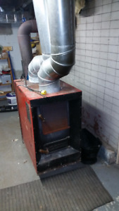 Wood stove/furnace with blower $70