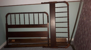 Antique Spindle double bed