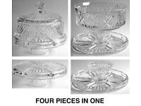 Godinger Dublin 4 In 1 Cake Dome Made of quality crystal glass