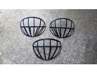 Half Wall Hanging Basket Cages