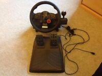 Logitech Driving Force GT Steering Wheel for PC or PS2/PS3