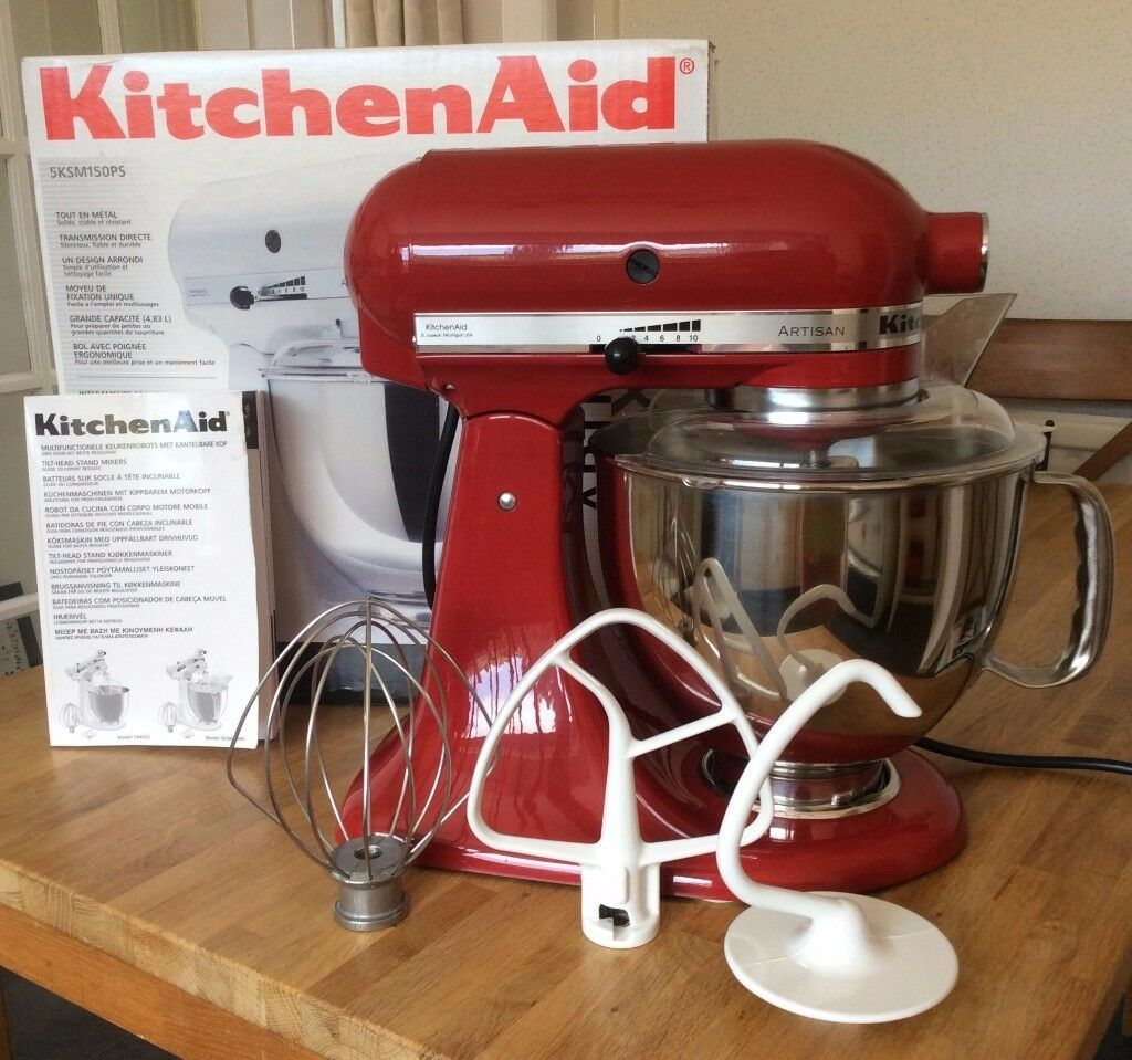 KITCHEN AID - ARTISAN MIXER with Stainless bowl, pouring shield ...