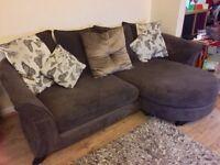 3 piece Sofa set: 4 Seat Lounger, Cuddler Sofa & Storage Footstool