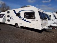 2013 Bailey Pegasus Ancona 6 Berth caravan FIXED BUNK BEDS, MOTOR MOVER, Bargain