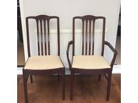 6 Stag Dining Chairs