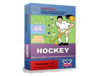 GESTICS HOCKEY - Make graphics sports exercises, draw sport drills trainings