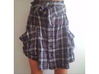 Diesel ladies checked skirt