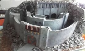 Large hand built Helms Deep castle from LOTR