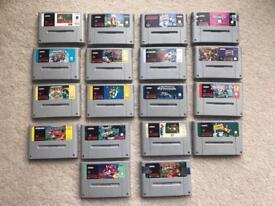 Super Nintendo snes games x18