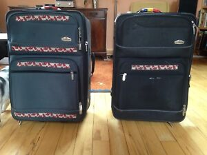 Two matching suitcases