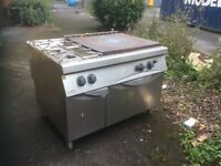 Solid top oven