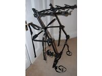 Halfords High Rear Mount Cycle Carrier for up to 3 bikes, fits any hatchback, adjustable.
