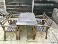Ikea garden furniture - table and 4 chairs