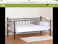 Brand new black metal day bed