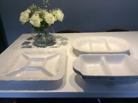 Set of 4 Beautiful White Serving Dishes - As Good As New