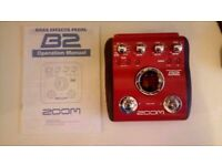Zoom B2 Bass multieffects processor