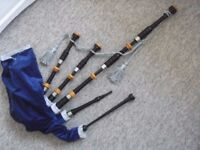 BAGPIPES, practice chanter, spare reeds, tuner, sheet music, tutorials.