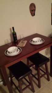 Small table and bench for 2