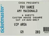 Foy Vance VIP tickets x 2