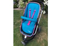Cosatto giggle 2 happy campers pushchair and assesories