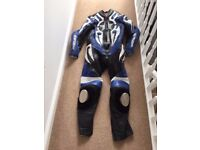 One piece motorbike leathers