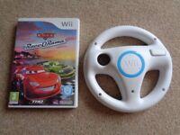 Wii Disney Pixar Cars Games & Steering Wheel *NEW*