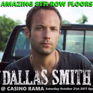 DALLAS SMITH @ CASINO RAMA – AMAZING 8TH ROW FLOORS & MORE!