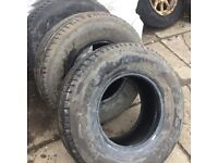 3 x autogrip 265/70/15 part worn tyres