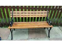 Cast iron mini bench