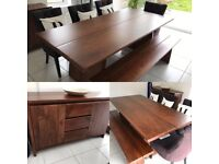 Dining Set With Side Board Chairs And Bench
