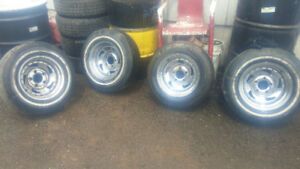 4 chrome rims and tires off an s10