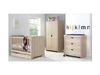 Mamas & Papas Rocco 4 Piece Nursery Furniture Set-Light Oak
