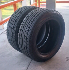 Set of two 195/55/15 Triangle Snow Lion winter tires. Excellent