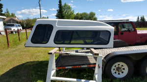 White high rise canopy to fit full size truck