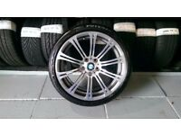 ALLOYS X 4 OF 19 INCH GENUINE BMW M3 STAGGERED IN CHROME OVER ANTHRACITE A VERY NICE SET OF WHEELS
