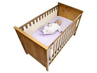 Safe Dreams 2 Sided Cot Wrap (Blue)