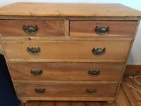Lovely rustic pine chest of drawers