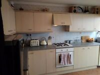 Kitchen complete with work surface, oven, hob, all cupboards for sale