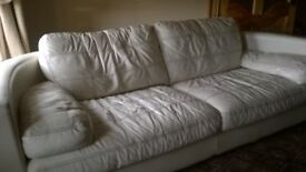 suite real leather cream