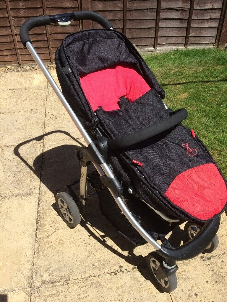 iCandy Cherry Travel System with buggy, carry cot, foot warmers and