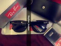 Best rayban wayfarer men's women's sunglasses new box bag black clubmaster aviator